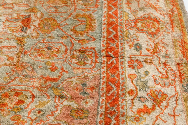 Antique Turkish Oushak Carpet BB7414