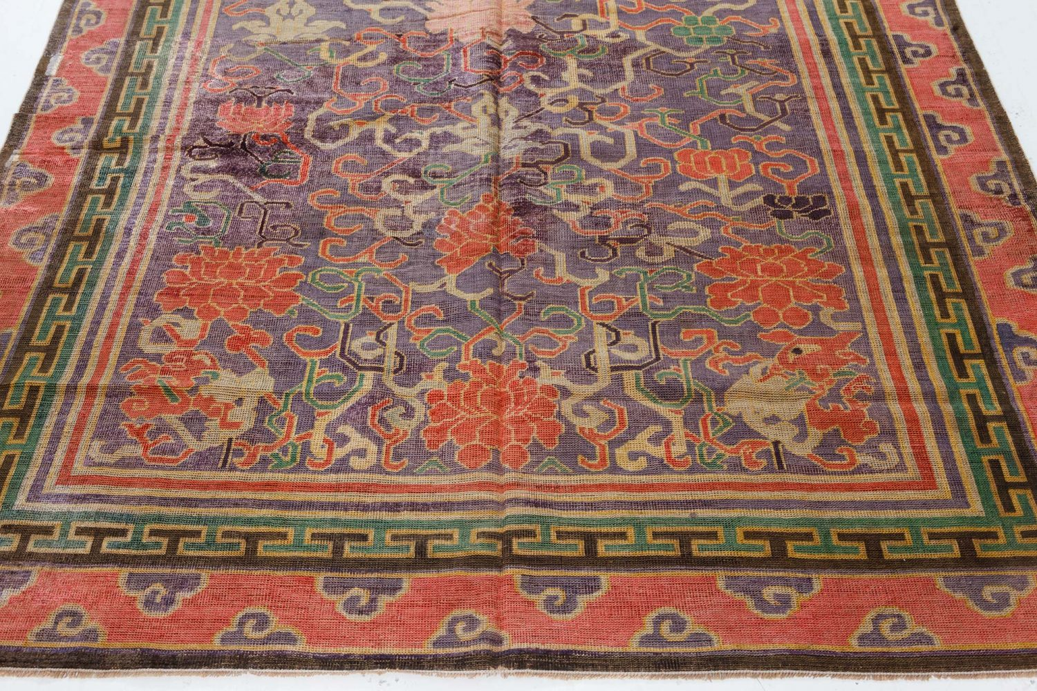 Vintage Silk Chinese Carpet BB7435