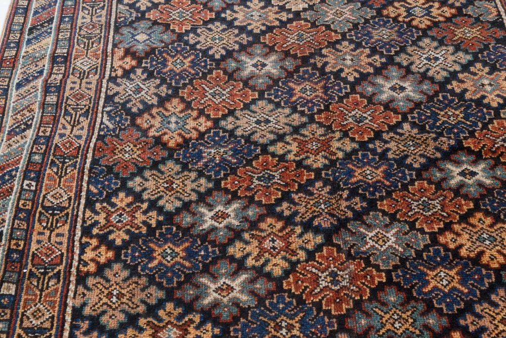Antique Karabagh Bold Handwoven Wool Runner BB7445