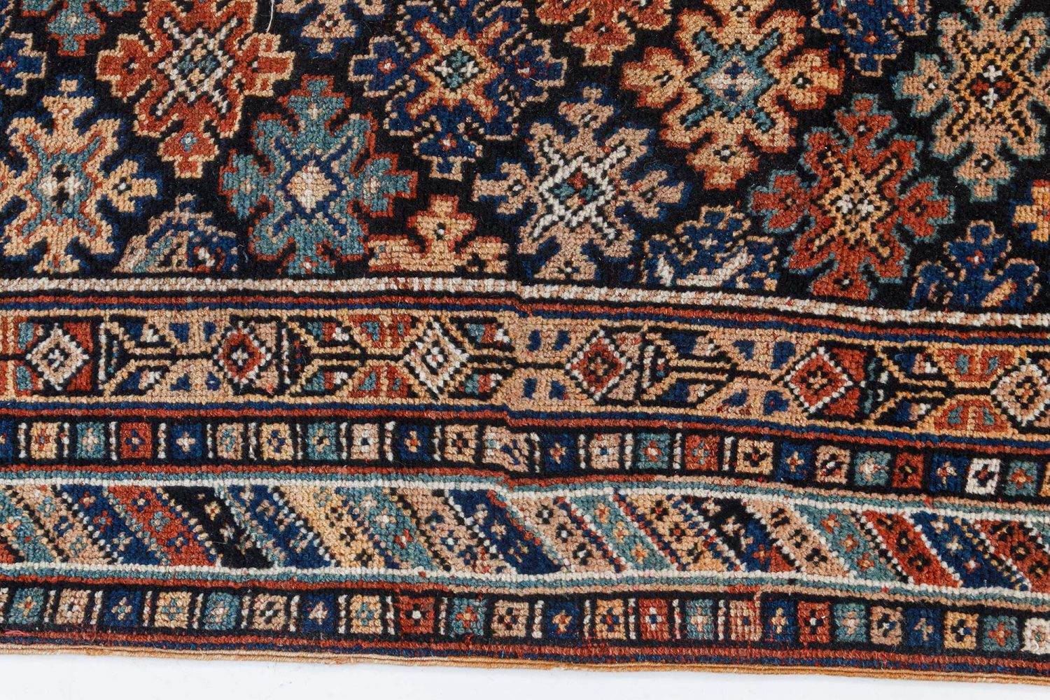 Antique Karabagh Bold Handwoven Wool Runner BB7445