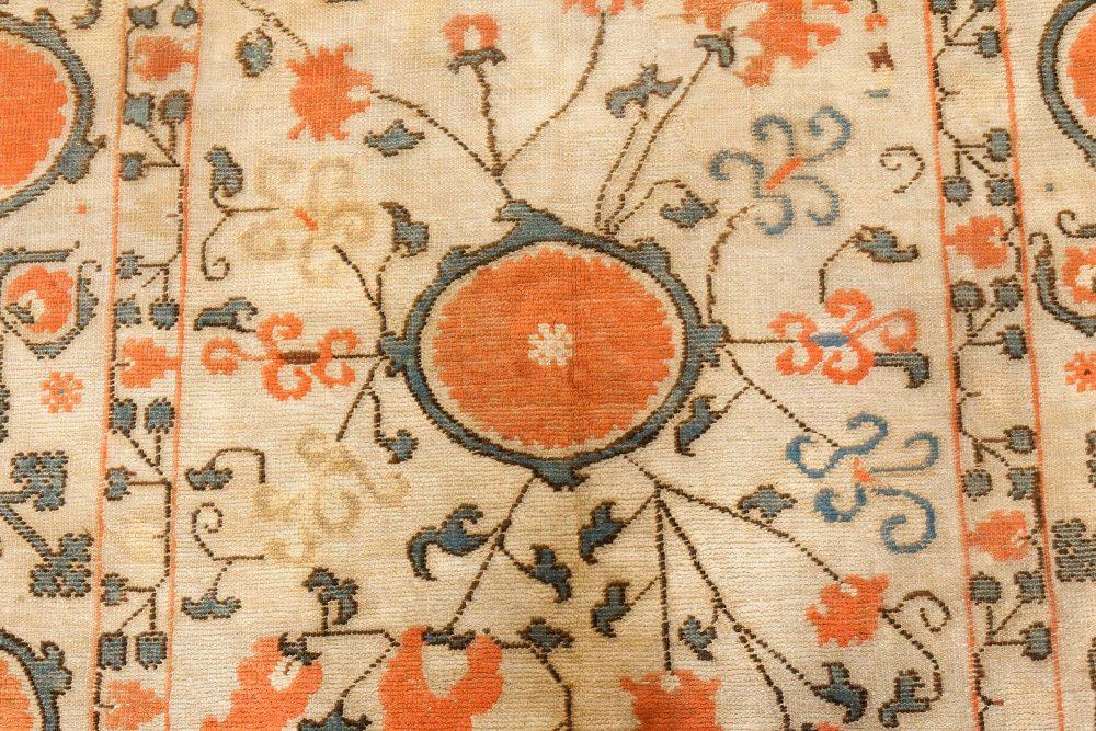 Vintage Samarkand Khotan Orange Carpet BB7450