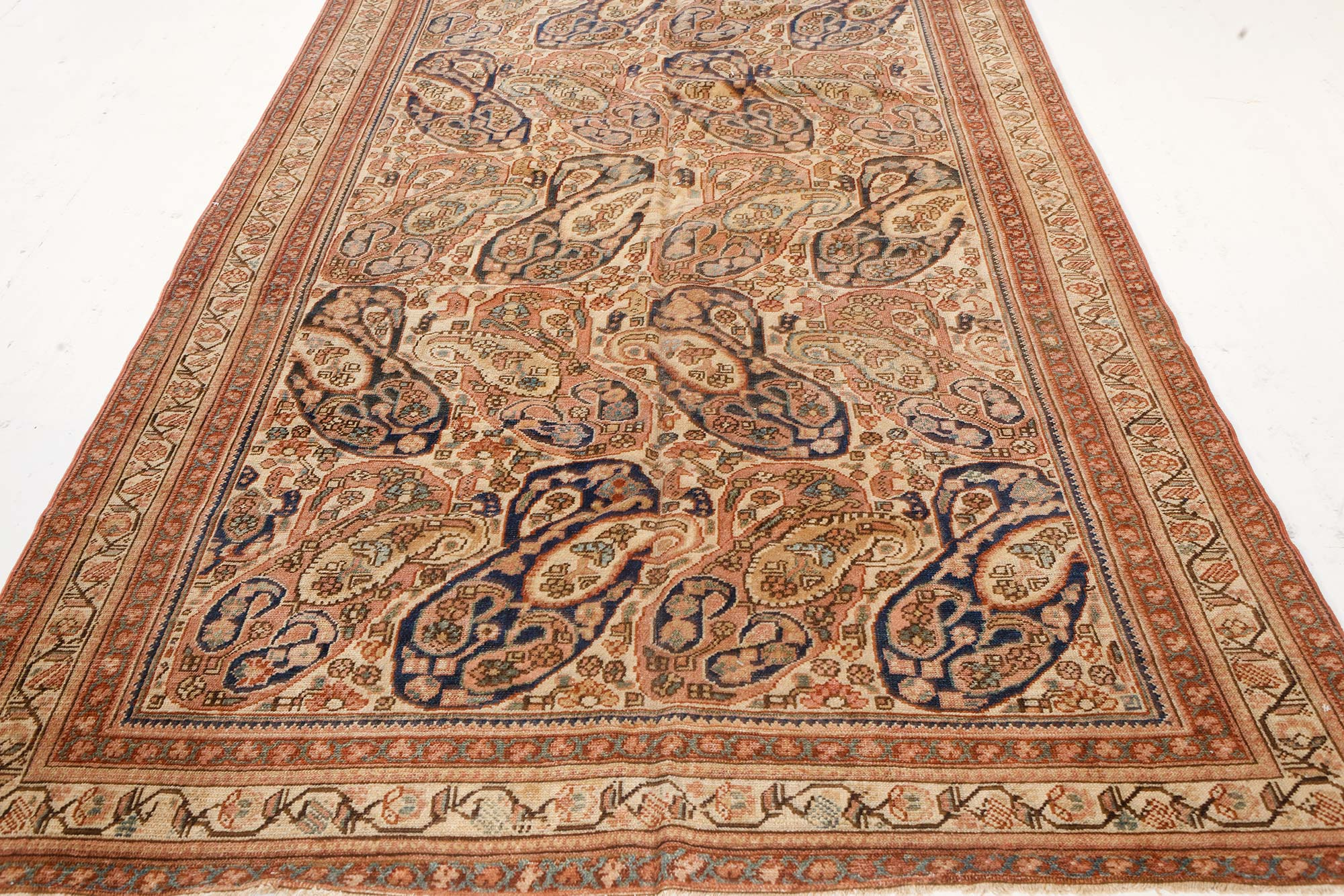 Antique Persian Malyer Handwoven Wool Rug Bb7458 By Dlb