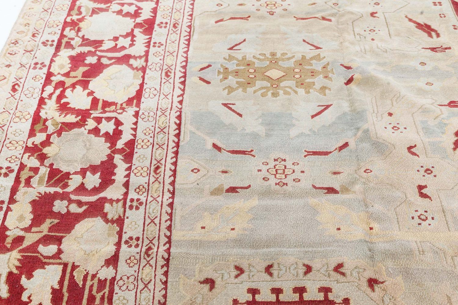 Antique Indian Agra Rug BB7480