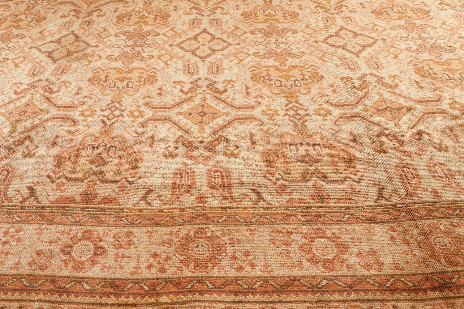 Oversized Vintage Turkish Oushak Carpet BB7501