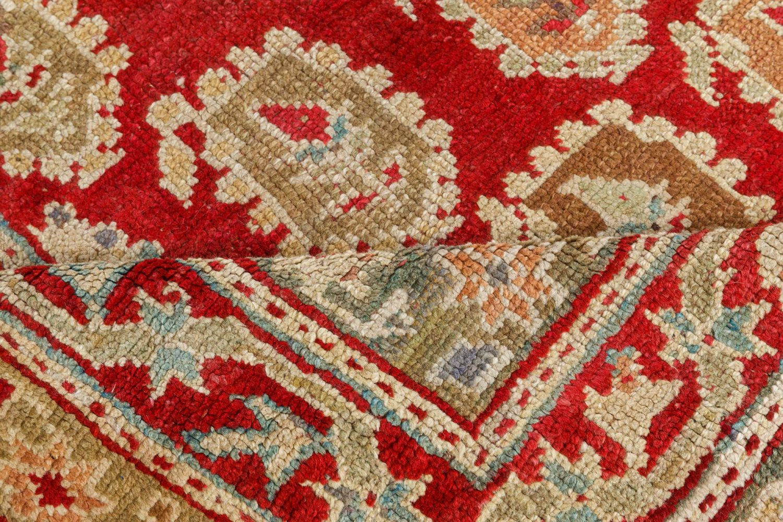 19th Century Turkish Oushak Brown Handwoven Wool Carpet BB7502