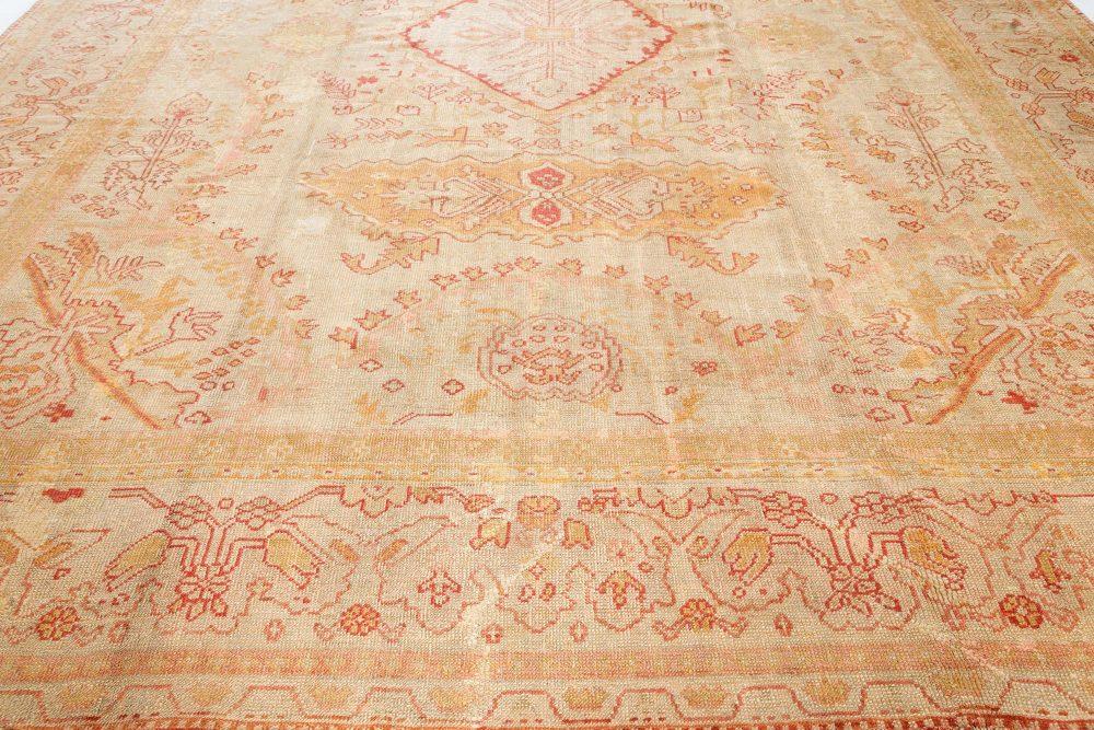 Antique Turkish Oushak Rug Late 19th Century BB7504