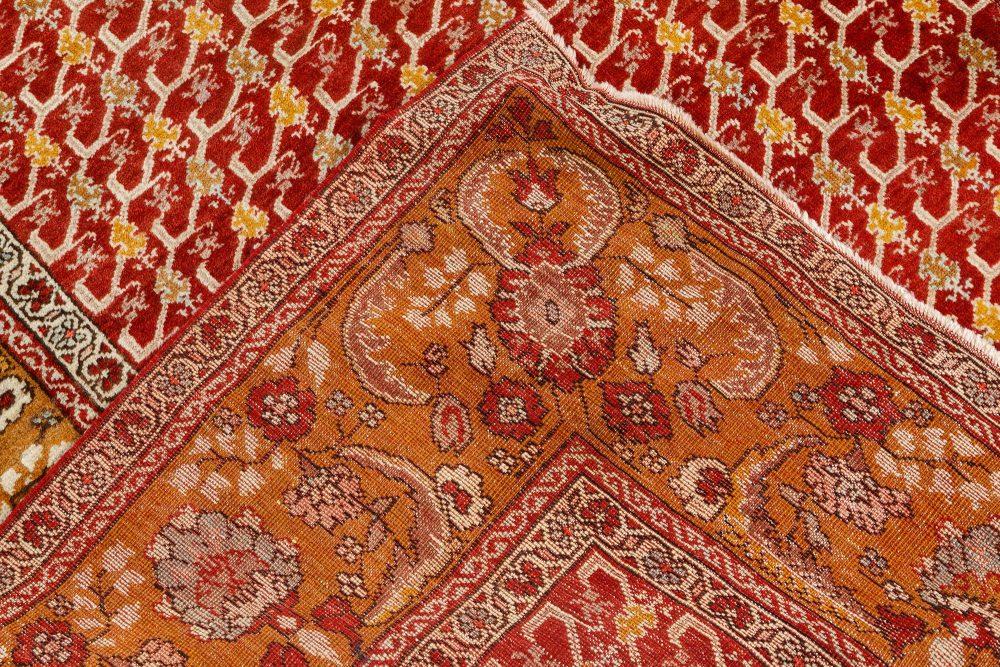 Antique Crimson and Golden Turkish Oushak BB7507