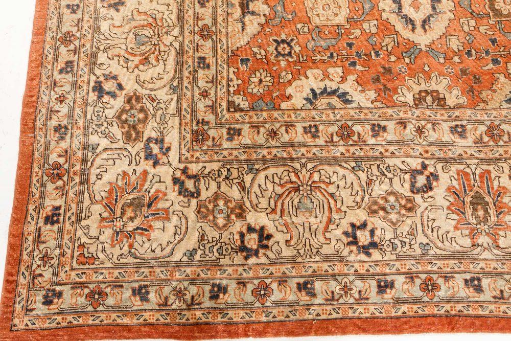Red Antique Persian Tabriz Carpet BB7525