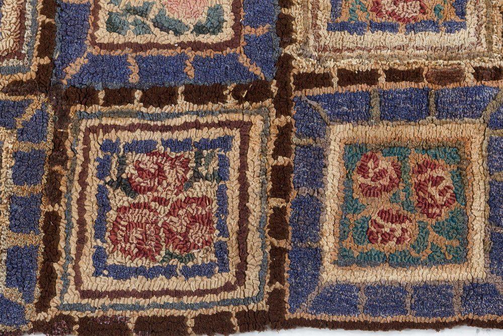 Vintage hooked Rug BB7534