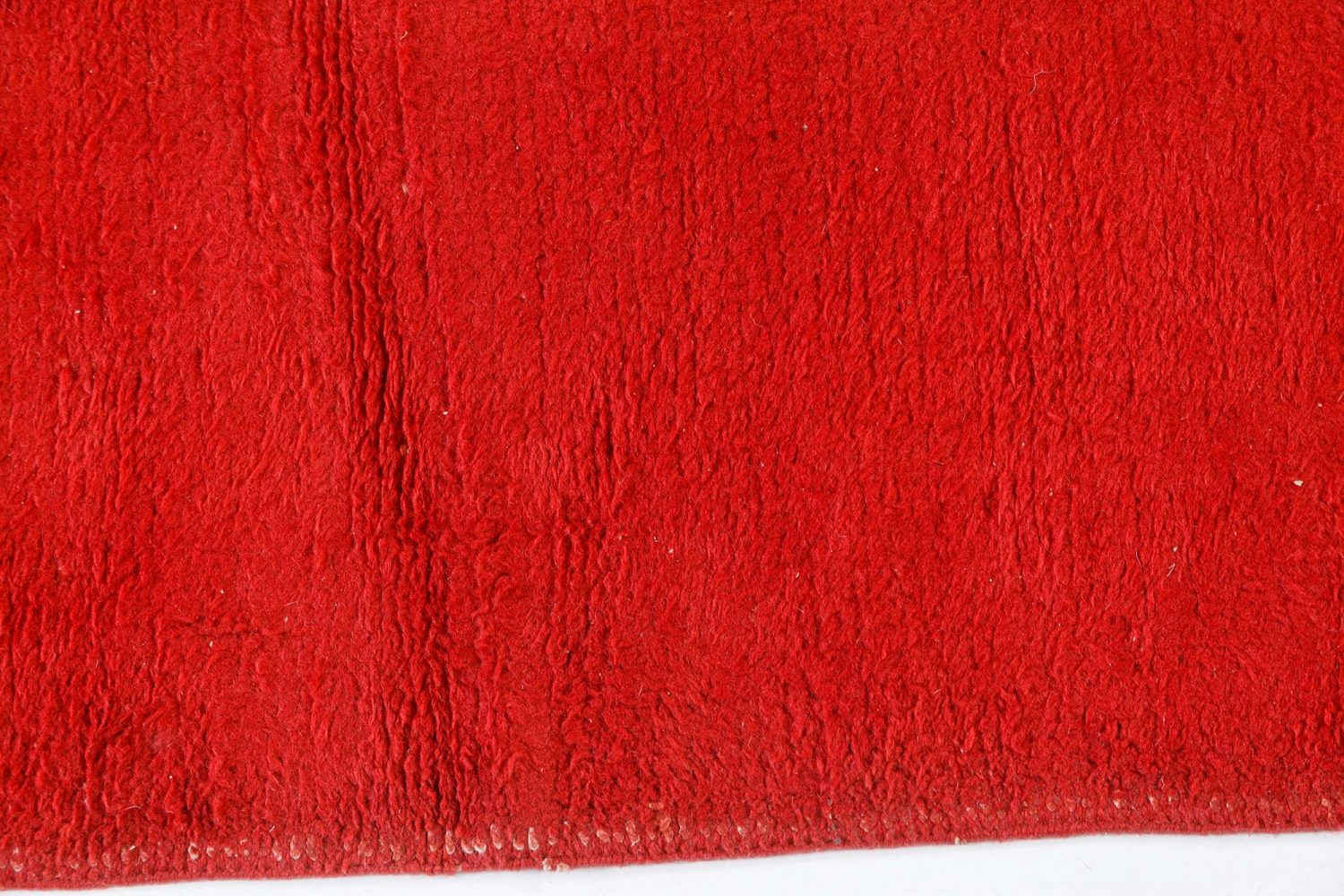 Vintage French Art Deco Red Crimson Hand Knotted Wool Rug BB7544