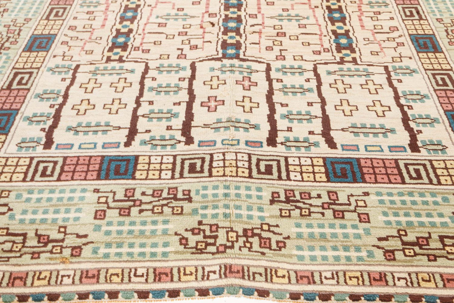 Vintage Swedish Pile Rug by Marta Maas Fjetterstrom BB7560
