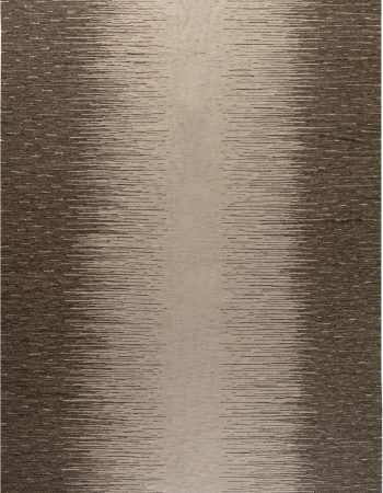 Contemporary Muted Silver and Blue Flat-Woven Wool Rug N11566
