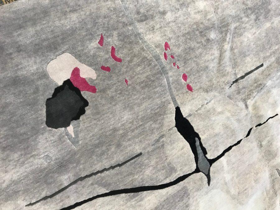 Grey and Pink Splatter Rug by Eskayel for Doris Leslie Blau N10127
