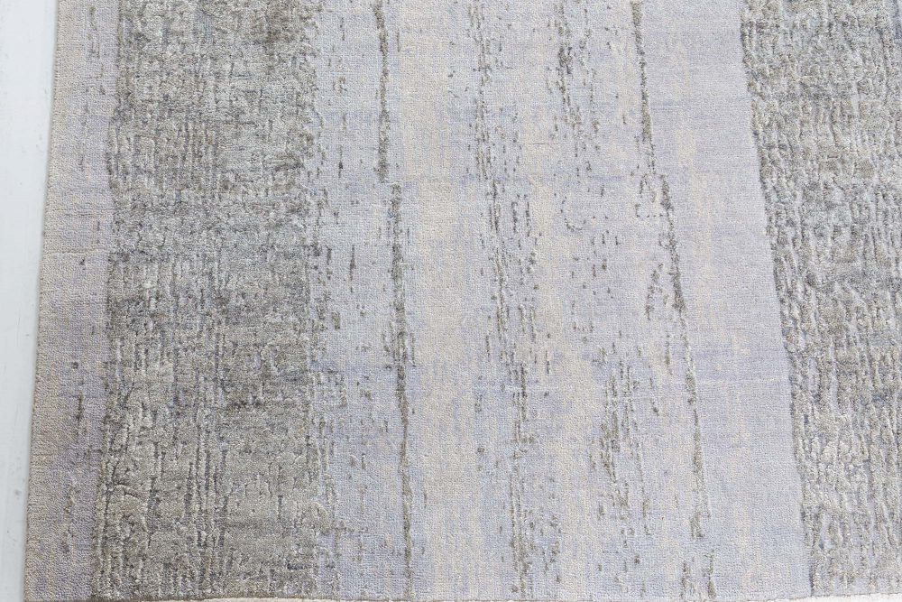Contemporary Gray Perspective Hand Knotted Wool Rug N10479