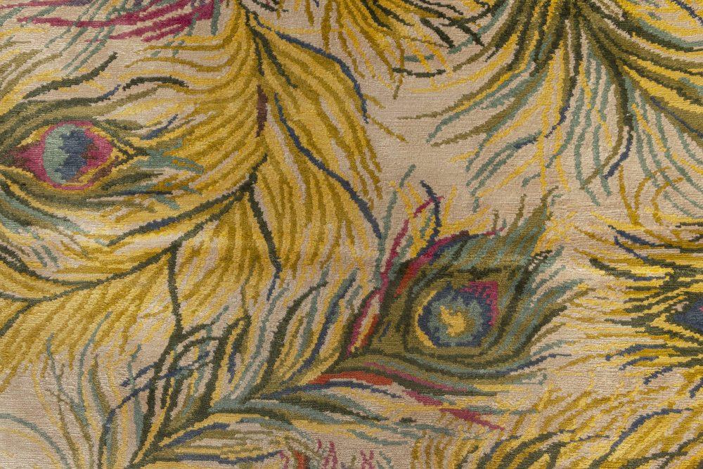Nanette Lapore Peacock Yellow, Pink, Green, Beige & Blue Silk Rug N10954