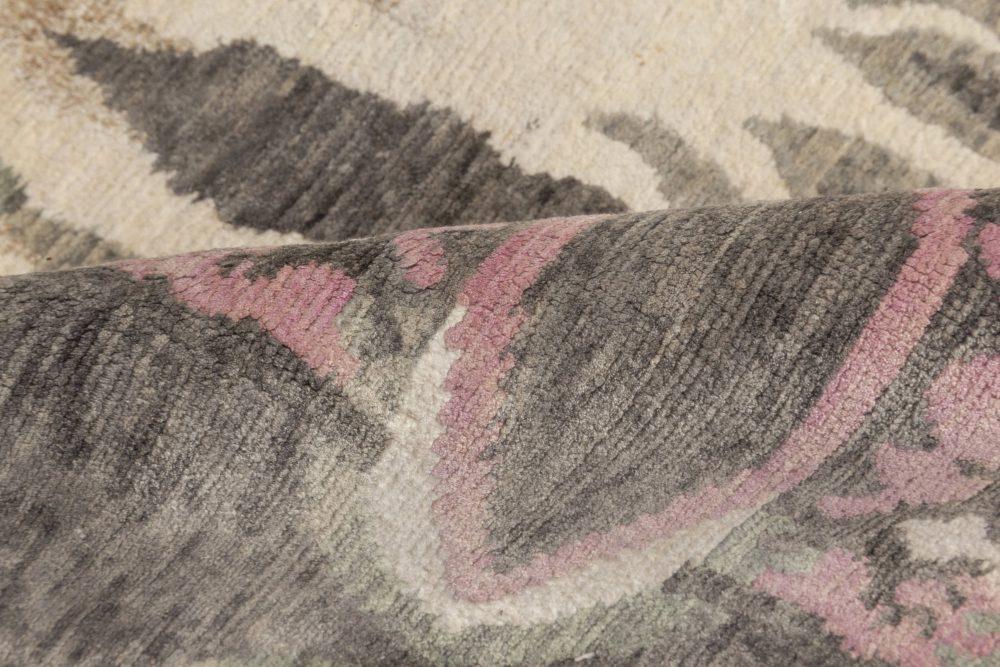 Ripple Pearl Eskayel Cream, Black, Pink and Gray Aloe and Silk Rug N11279