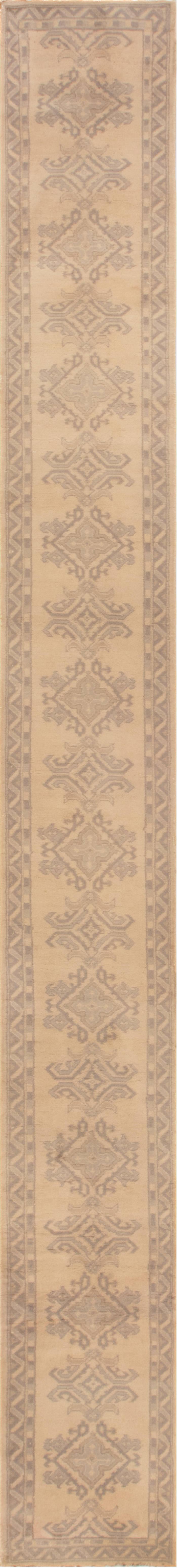 Antique Turkish Oushak Runner BB5359