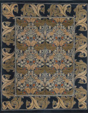 Antique Persian Tabriz Caramel and Salmon Handwoven Wool Rug BB5506
