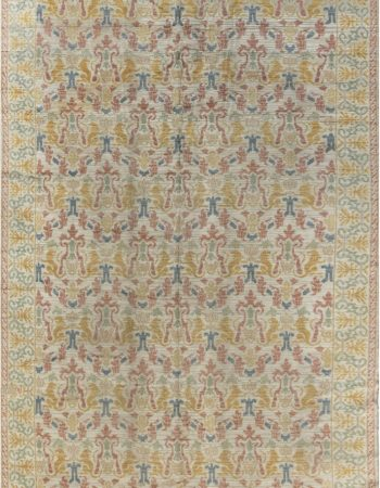 19th Century Samarkand Light Camel and Orange Handwoven Wool Rug BB4256
