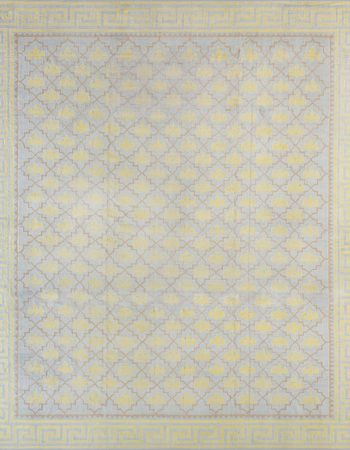 Vintage Indian Dhurrie Yellow Flat-Woven Cotton Rug BB5895