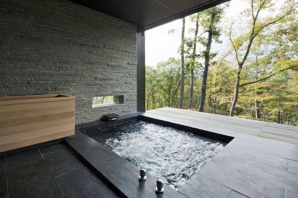 bañera zen japonés