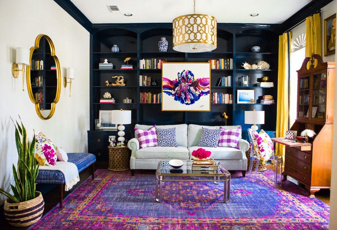 hollywood regency living room chic interior
