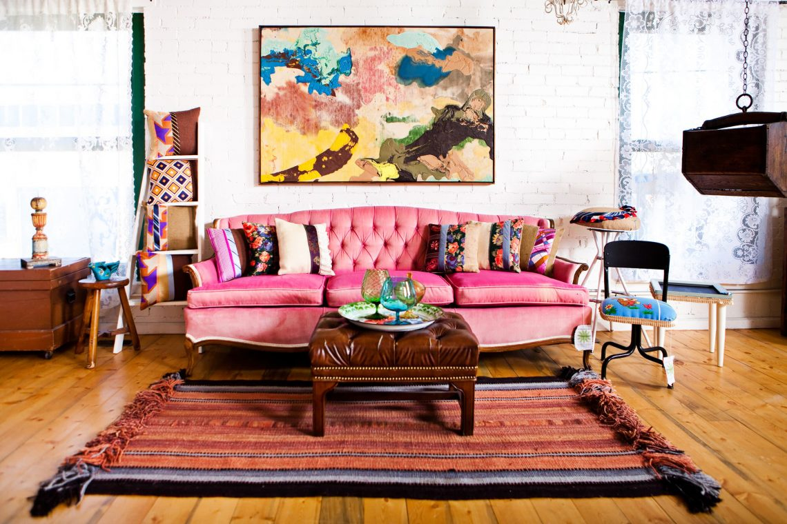 indian inspired room with rug