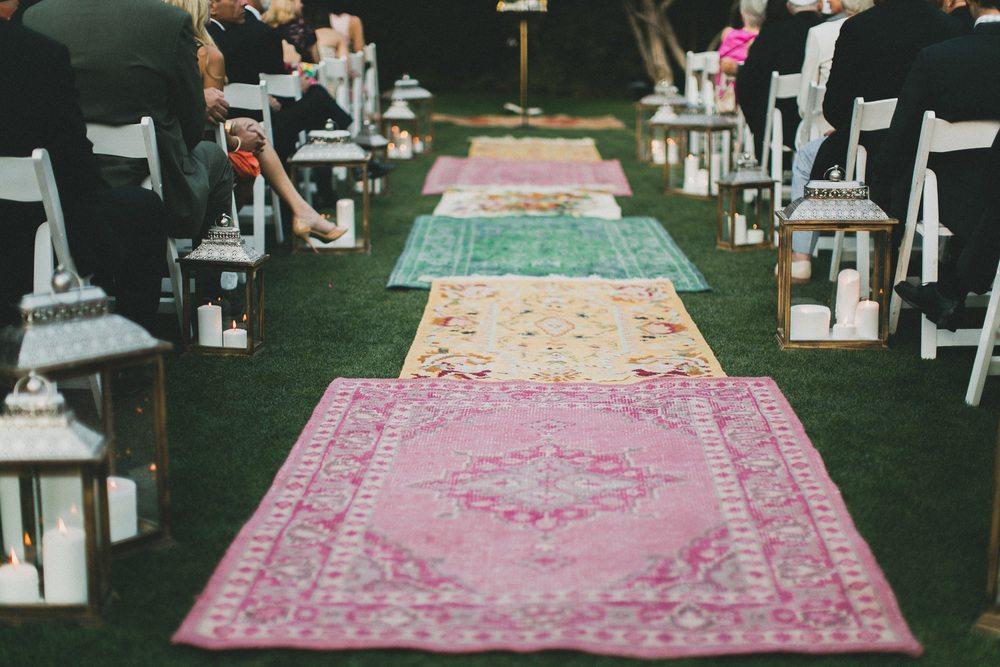 antique rug wedding