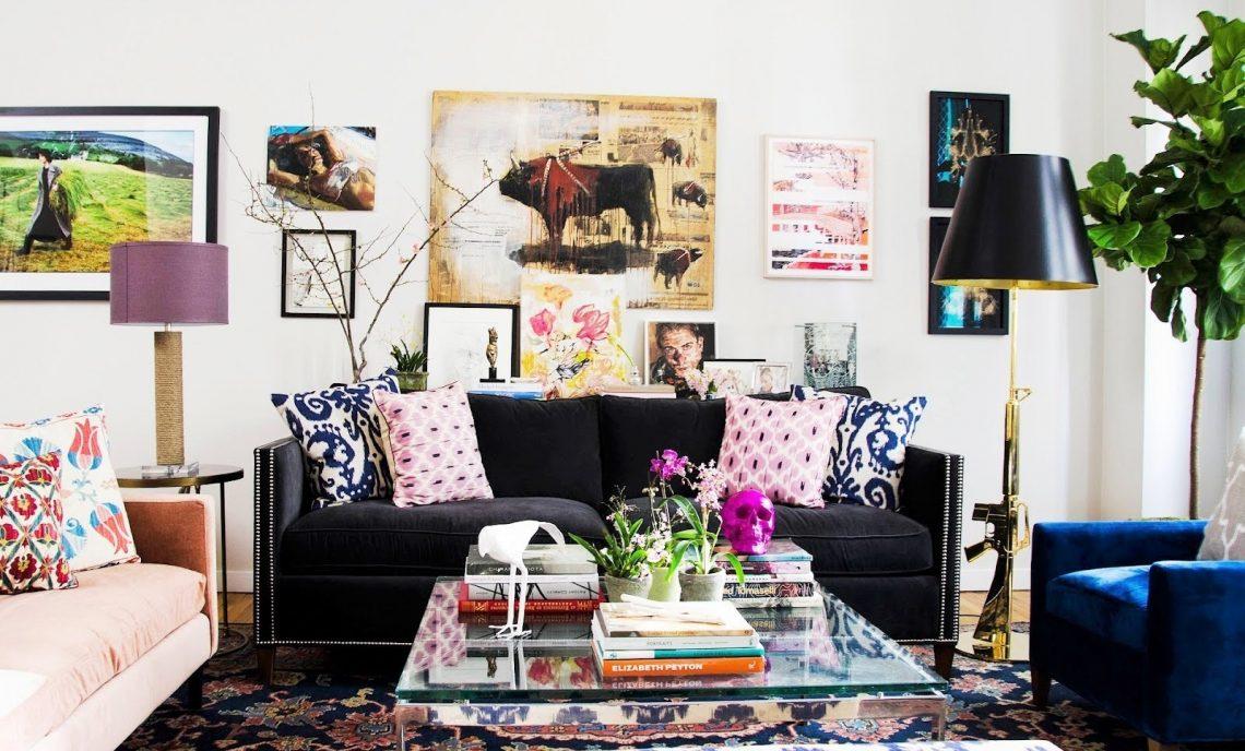 Southwestern Style black sofa living room decorating ideas Vitra Brand -
