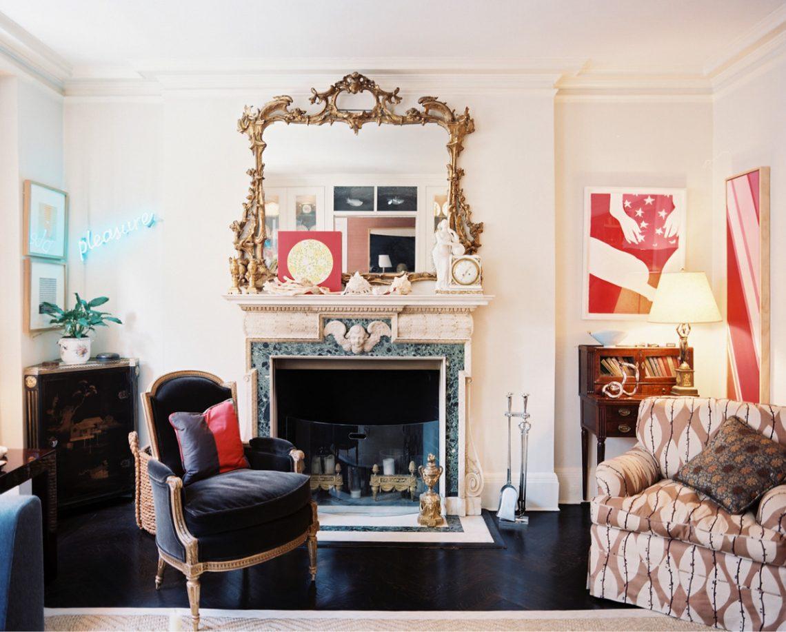 hollywood regency living room chic elegant interior