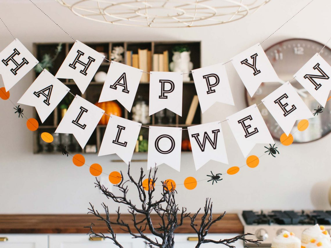 Halloween interior decor