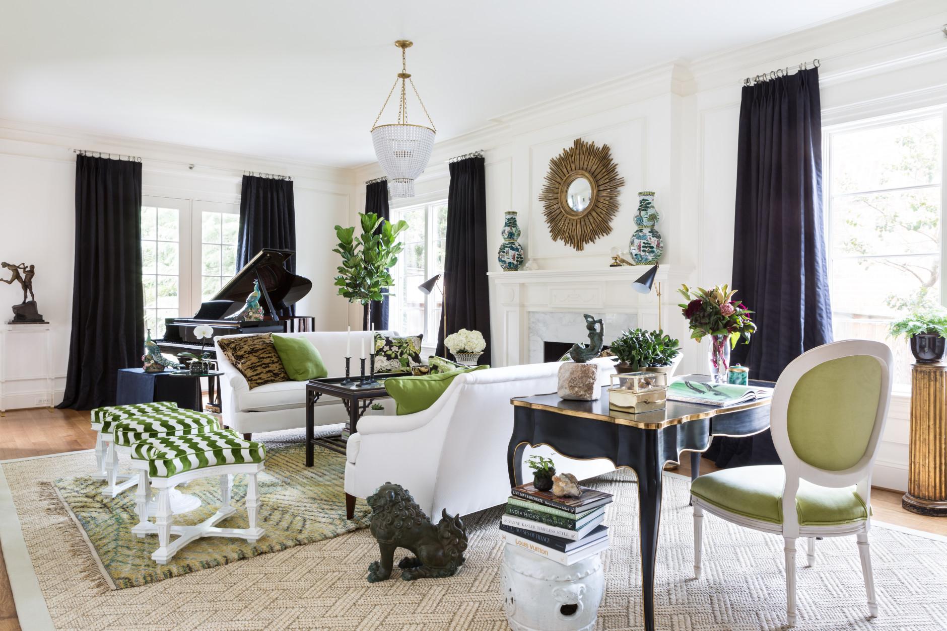 elegant living room chic interior design
