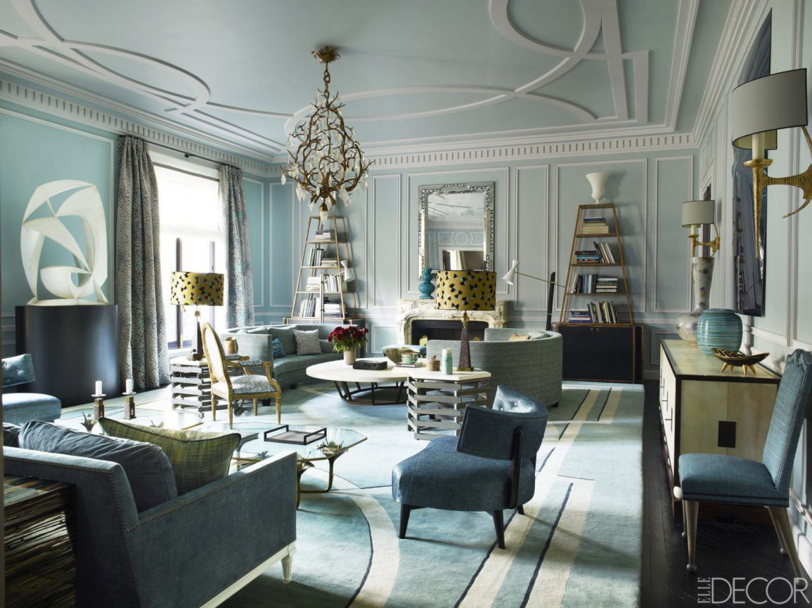 elegant living room interior decor gold french parisian