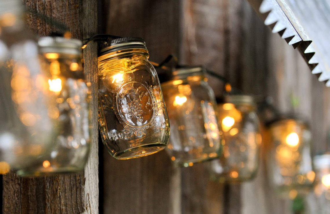 christmas light in jar DIY christmas decorations christmas decor