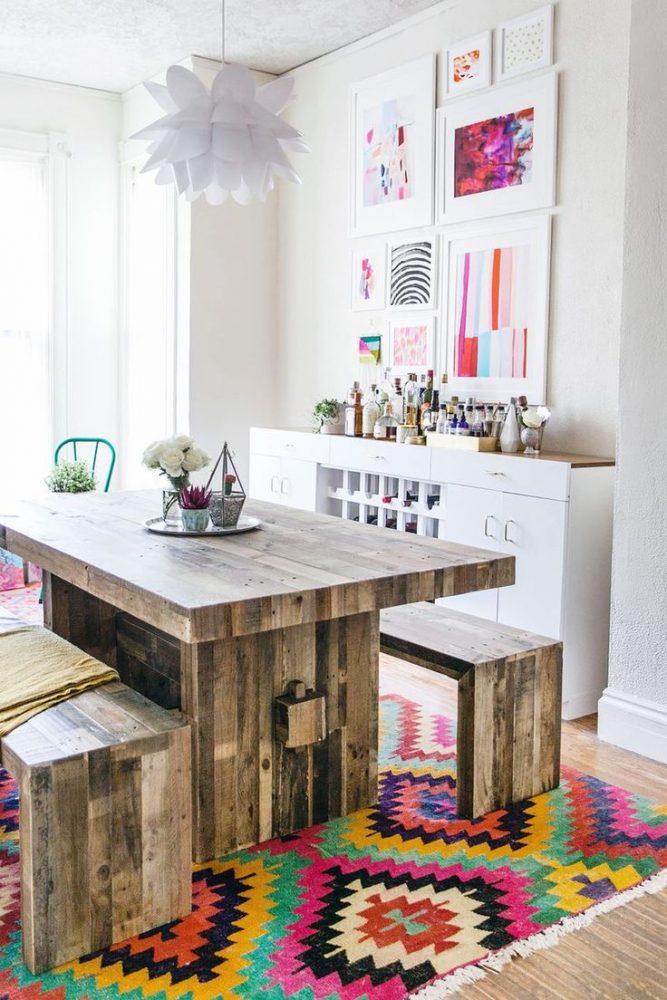 eclectic interior dining room elegant colorful interior