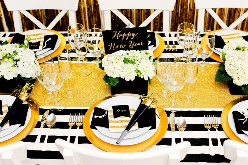 party decor table setting new years eve 2017