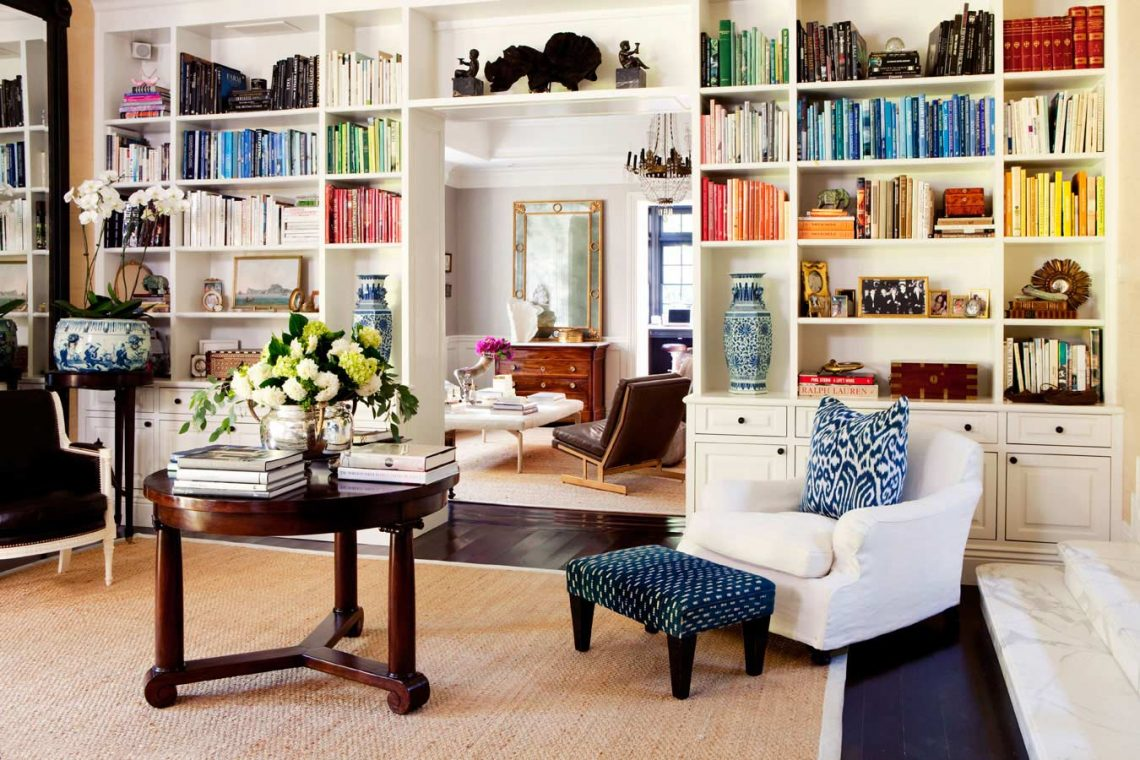 eclectic shabby chic interior living room colorful interior bookshelves