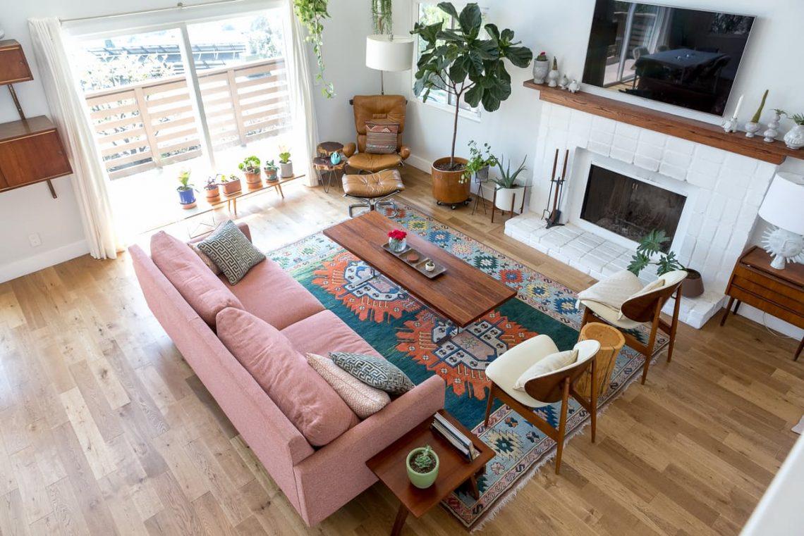 country interior decor, interior trends 2017, countryside interior decor, farmhouse interior living room, vintage rug
