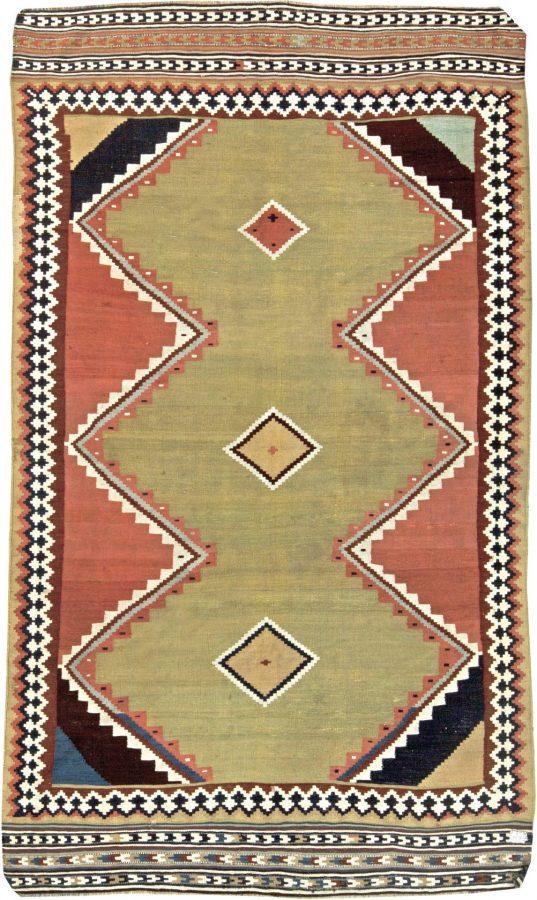 antique-carpet-persian-kilim-geometric