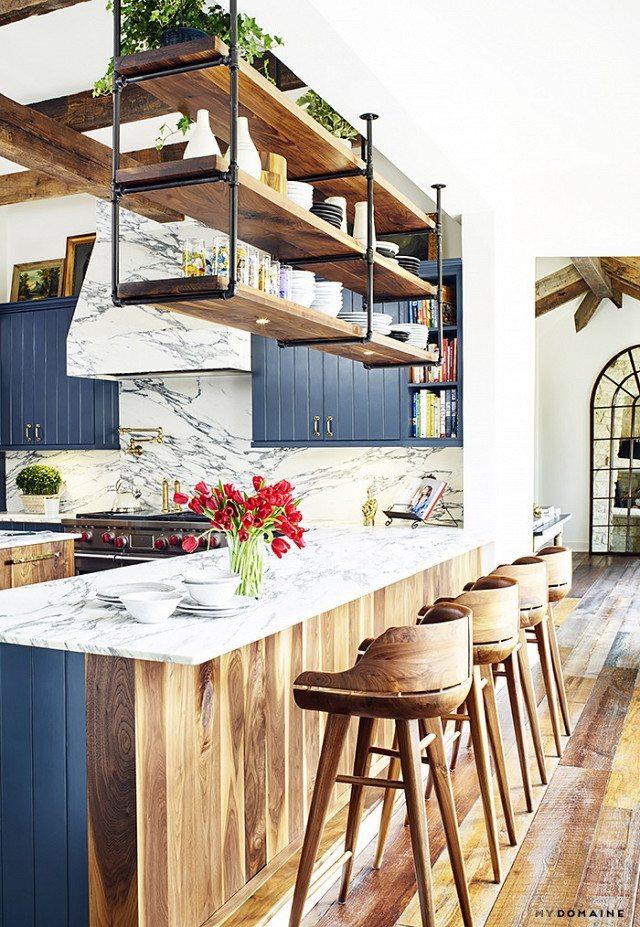 kitchen wooden, country decor, interior decor trends 2017, interior design