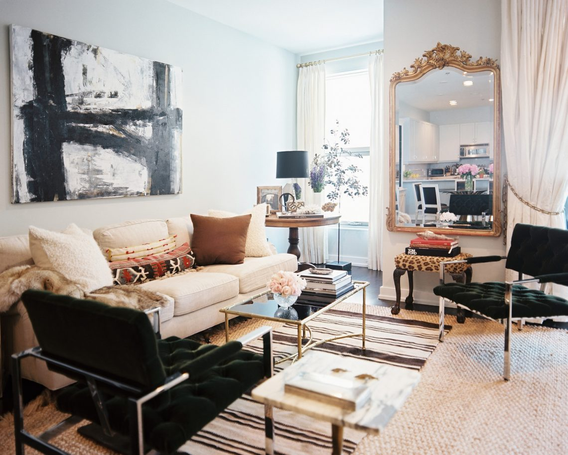 elegant modern interior decor, elegant living room, abstract painting, art in living room, glamour interior