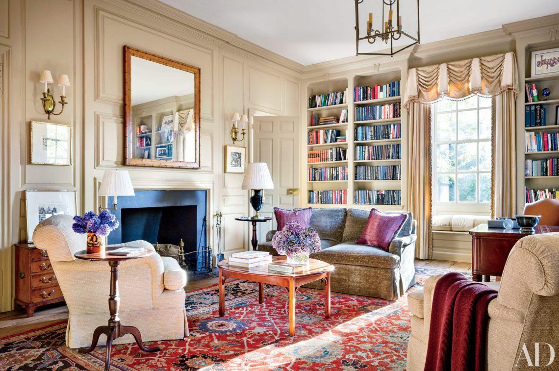 antique rugs, oriental rugs, antique rug, oriental rug, red rug, elegant interior, elegant living room, classical living room, home library