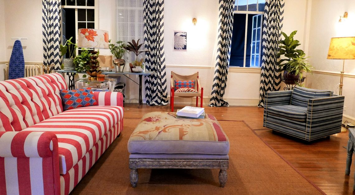la la land movie set, eclectic colorful living room patterns