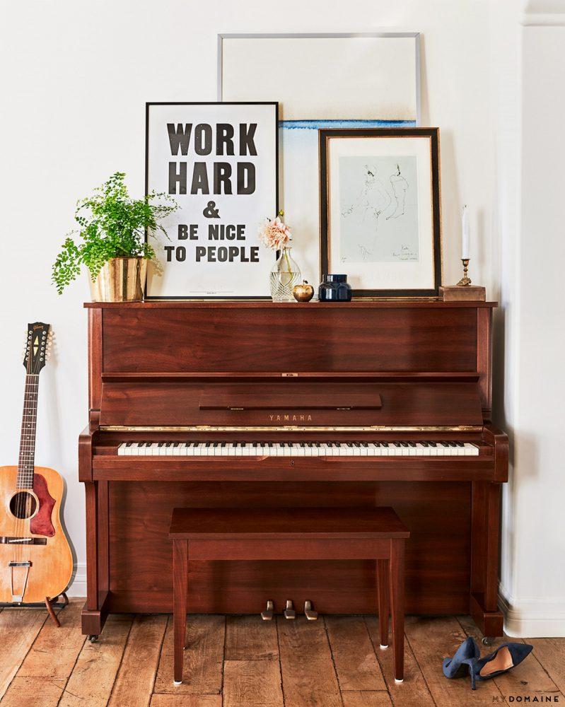 lauren conrad interior decor, piano decor, boho interior decor