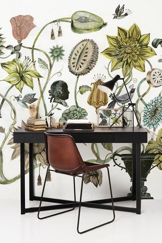 botanical print, wall art, floral print wall, botanical wall