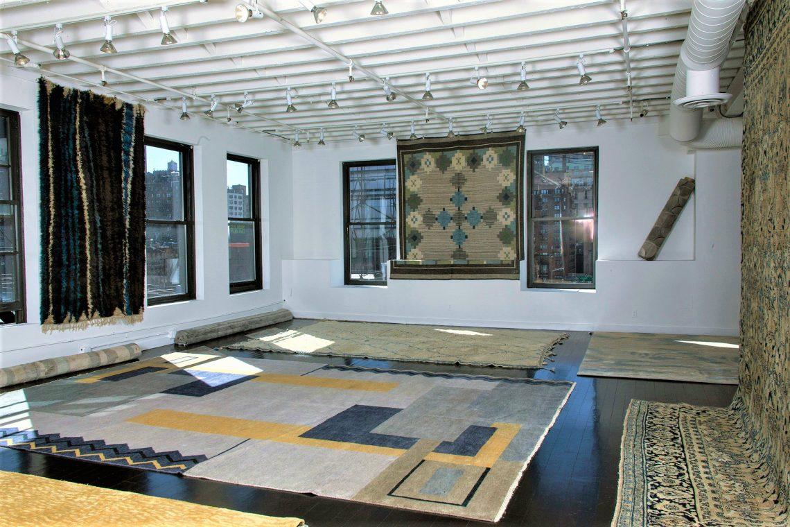 doris leslie blau pop up store antique rugs new york city vintage rugs