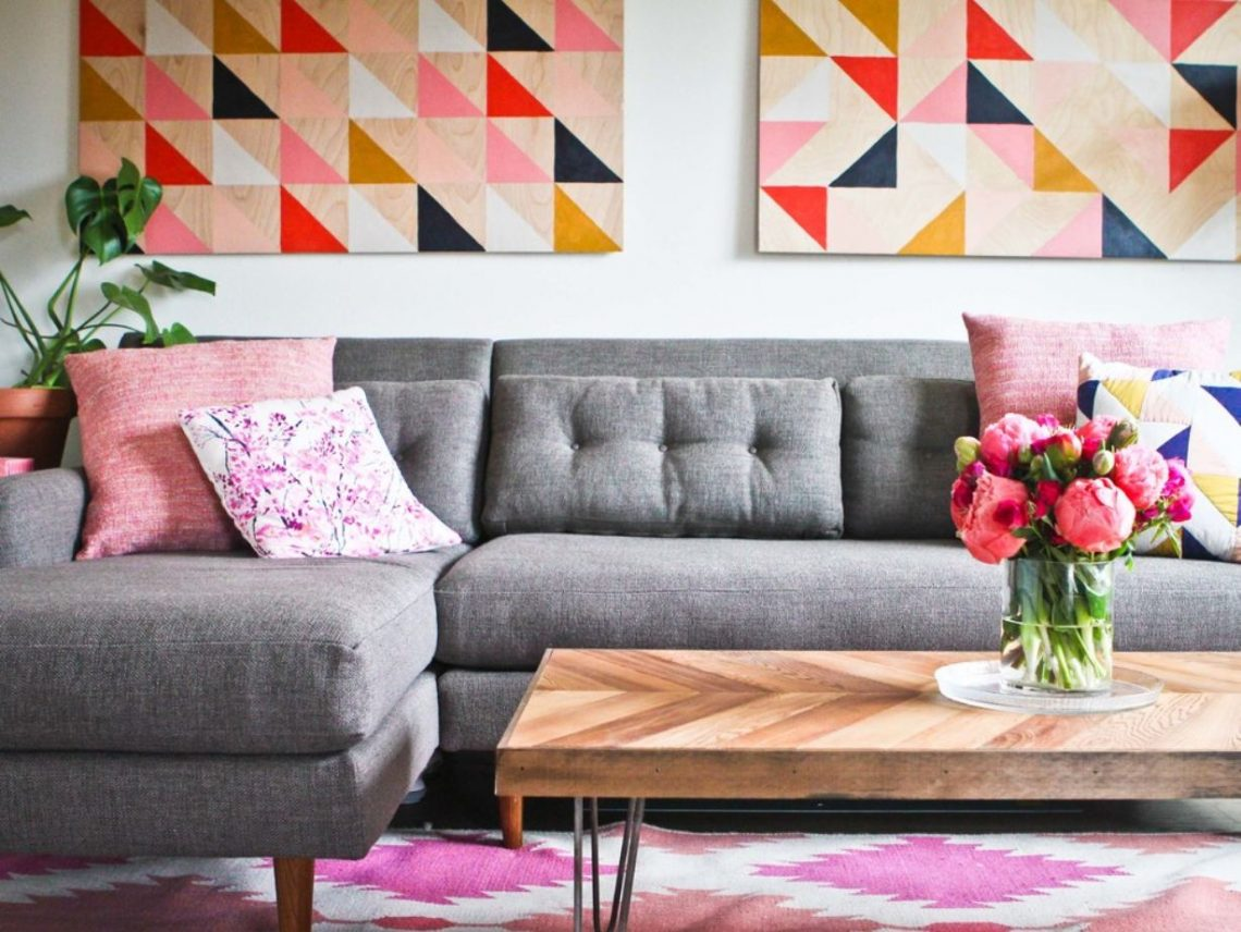 colorful interior, colorful living room, interior decorating, decorating with color, color palette