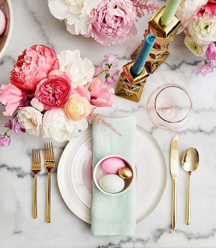 easter decor, tablescape, table setting, holiday table setting, easter table decor, easter tablescape