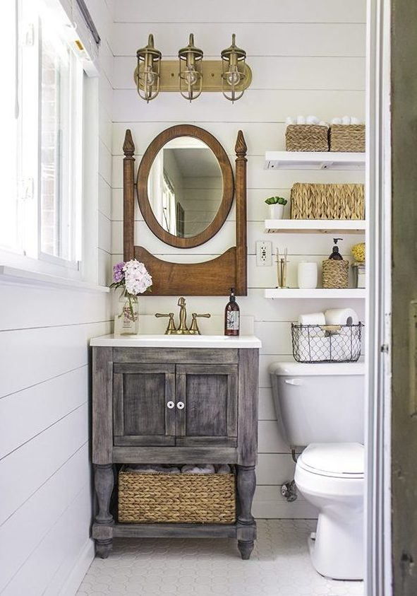 5 Easy Ways To Style a Modern Farmhouse Bathroom 1
