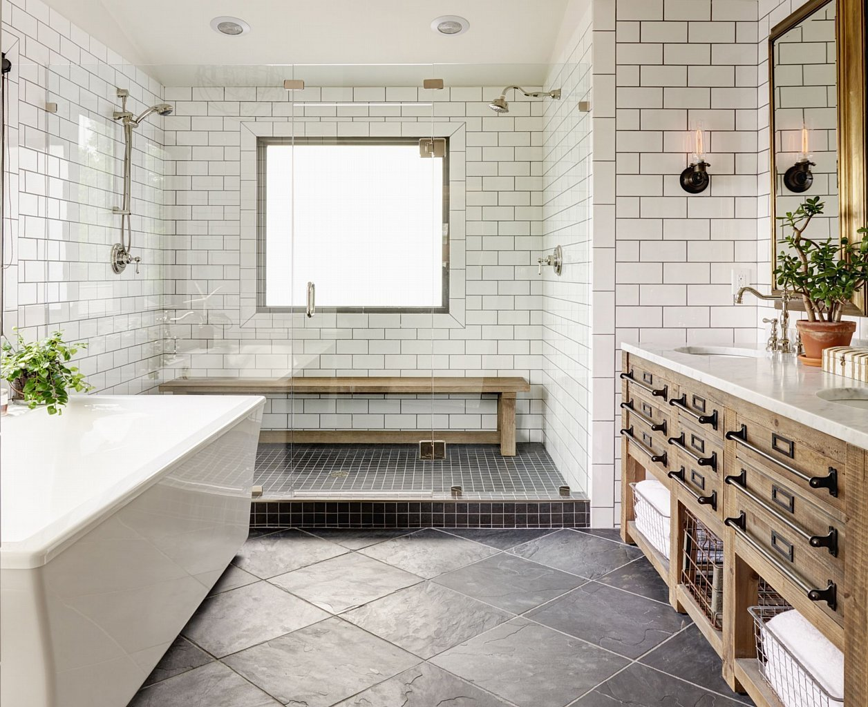 5 Easy Ways To Style a Modern Farmhouse Bathroom on Modern Farmhouse Shower  id=35581